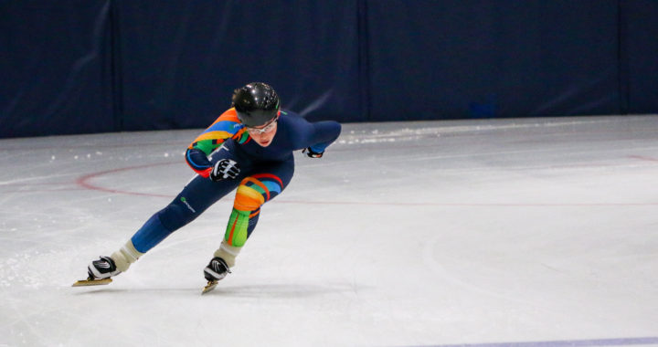 Wren Acorn at 2017 NWT Speed Skating Summer Camp